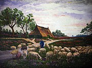 Andries Hartholt - Sheep at daybreak