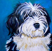 Dog Lover Art Prints - Sheepish Print by Debi Pople