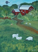 Virginia Coyle - Sheeps In the Meadow