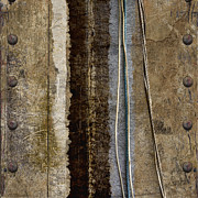 Rivets Art - Sheetmetal Strings by Carol Leigh
