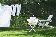 Sandra Cunningham - Sheets and towels drying