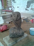 Owl Sculpture Metal Prints - Sheffield Owl Metal Print by Stephen Nicholson