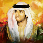 Sheikh Posters - Sheikh Hamdan Bin Mohammed Poster by Corporate Art Task Force