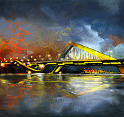 Portrait Painting Originals - Sheikh Zaed Bridge by Corporate Art Task Force