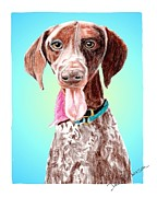 Animal Shelter Drawings - Shelby - a former shelter sweetie by Dave Anderson