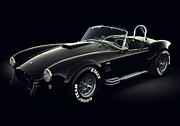 High Digital Art Posters - Shelby Cobra 427 - Ghost Poster by Marc Orphanos