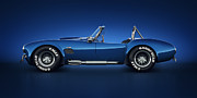 Vintage Digital Art Metal Prints - Shelby Cobra 427 - Water Snake Metal Print by Marc Orphanos