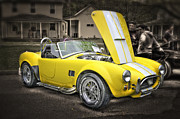 Yellow Cobra Prints - Shelby Cobra Print by David Kawchak