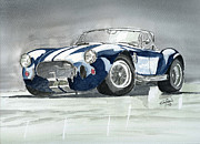 Engine Drawings - Shelby Cobra by Eva Ason