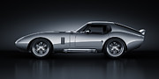 Muscle Car Metal Prints - Shelby Daytona - Bullet Metal Print by Marc Orphanos