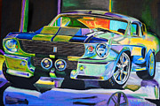 Ford Mustang Paintings - Shelby GT 500 by Erica Belcher