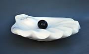 Shell Sculpture Originals - Shell and Pearl by Leslie Dycke