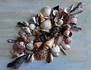 Caribbean Sea Mixed Media - Shell Bouquet  No.4 by Karin Best