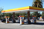 Pumps Prints - Shell Gas Station 5D23960 Print by Wingsdomain Art and Photography