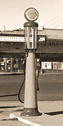 Route 66 Prints - Shell Gas - Wayne Visible Gas Pump 2 Print by Mike McGlothlen