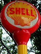 Shell Sign Art - Shell Post Sign by Randall Weidner