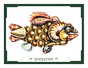 Jon Q Wright Framed Prints - Shellfish Framed Print by JQ Licensing