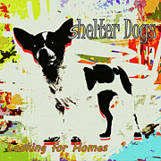 Ginette Fine Art LLC Ginette Callaway - Shelter Dogs Looking For Homes