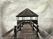 Gazebo Wall Art Prints - Shelter From The Storm Print by Paulette Wright