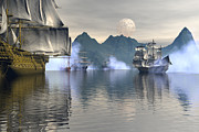 Tall Ship Art - Shelter harbor 2 by Claude McCoy