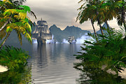Waterscape Digital Art - Shelter harbor longshot by Claude McCoy