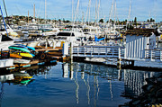 Park Benches Photos - Shelter Island Yachts by Craig Carter