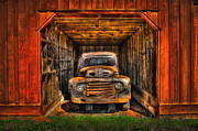 Rusty Trucks Framed Prints - Sheltered  Framed Print by Reid Callaway