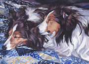 Sheltie Framed Prints - Sheltie Love Framed Print by Lee Ann Shepard