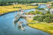 Coleman Shrimp Prints - Shem Creek Aerial View Print by Vanessa Kauffmann