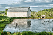 Shenandoah Barn Reflection Print by Lara Ellis