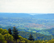 Blue Ridge Parkway Paintings - Shenandoah Valley Overlook by Armand Cabrera