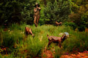 Boy Digital Art Originals - Shepherd Boy by Jon Burch Photography