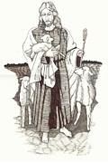 Christianity Drawings - Shepherd by Carl Benson
