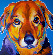 Dawgart Paintings - Shepherd Mix - Riley by Alicia VanNoy Call