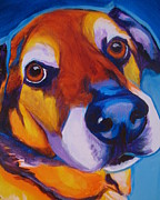 Dawgart Paintings - Shepherd Mix - Dundas by Alicia VanNoy Call
