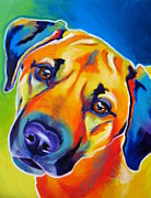 Alicia Vannoy Call Prints - Shepherd Mix - Puppy Dog Eyes Print by Alicia VanNoy Call