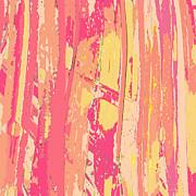Sherbet Palms Print by Rosie Brown