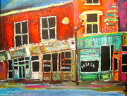 Store Window Display Paintings - Sherbrooke Street West by Michael Litvack