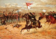 Military History Paintings - Sheridan Riding by American School
