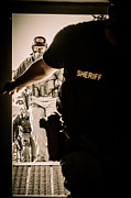 Law Enforcement Prints - Sheriff Entry Team Print by David Morefield