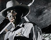 Law Mixed Media Posters - Sheriff Hoyt Poster by Jeremy Moore
