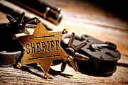 Sheriff Tools Print by Olivier Le Queinec