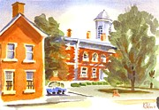Greens Paintings - Sheriffs Residence with Courthouse by Kip DeVore