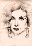 Elizabeth Taylor Drawings - Sherilyn Fenn portrait by Evey Studios