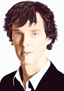 Benedict Digital Art Framed Prints - Sherlock BBC Framed Print by Yulia Andreeva