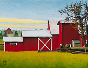 Squash Paintings - Sherman Squash Farm by Stacey Neumiller
