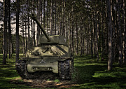 Olive Drab Prints - Sherman Tank Print by David Kawchak