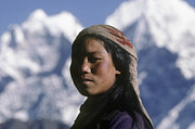 Slide Photographs Prints - Sherpa Woman - Mt Everest Print by Craig Lovell