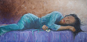 Purple Robe Art - Sherry by Jerry McElroy