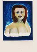 Alluring Painting Originals - Sherry Over Blue by John Deeter